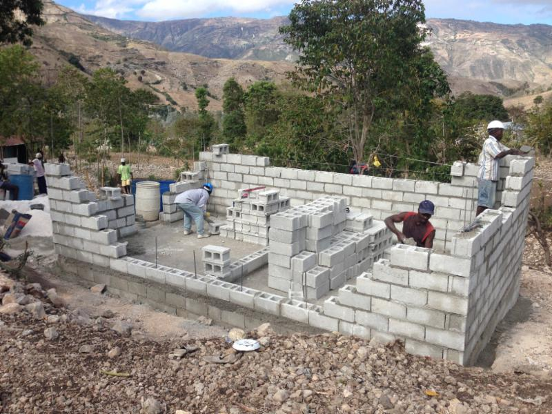 Block being laid on the new house!